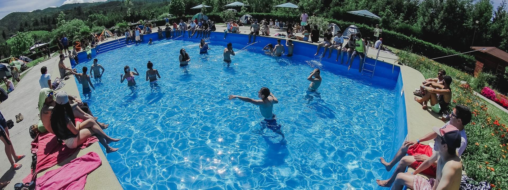 Caba as con piscinas en quill n camping precios econ micos for Piscinas precios baratos